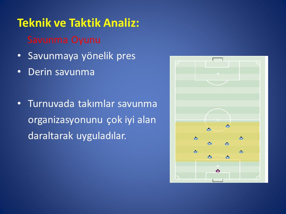 Teknik ve Taktik Analiz: