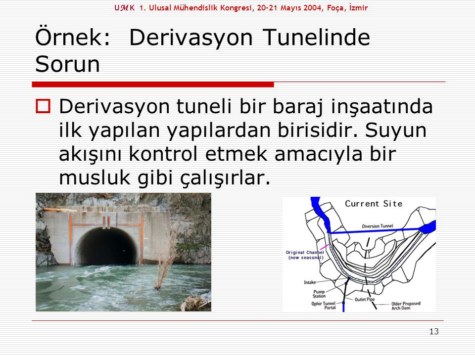 Örnek: Derivasyon Tunelinde Sorun