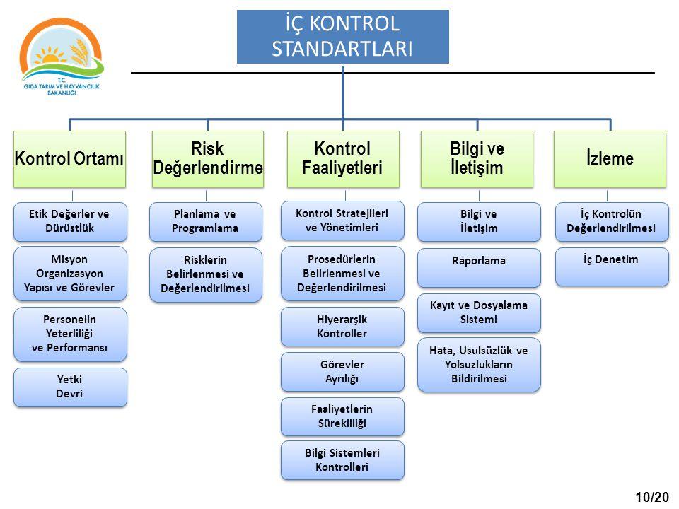 Kontrol Ortamı Risk Değerlendirme Kontrol Faaliyetleri