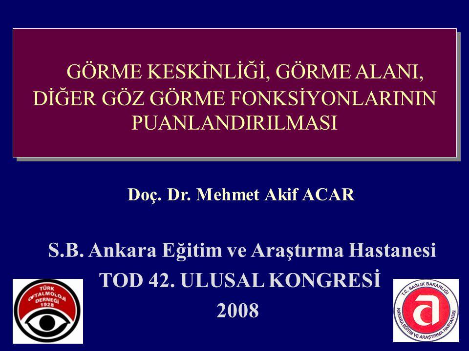 GÖRME KESKİNLİĞİ, GÖRME ALANI,