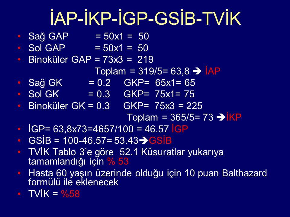 İAP-İKP-İGP-GSİB-TVİK