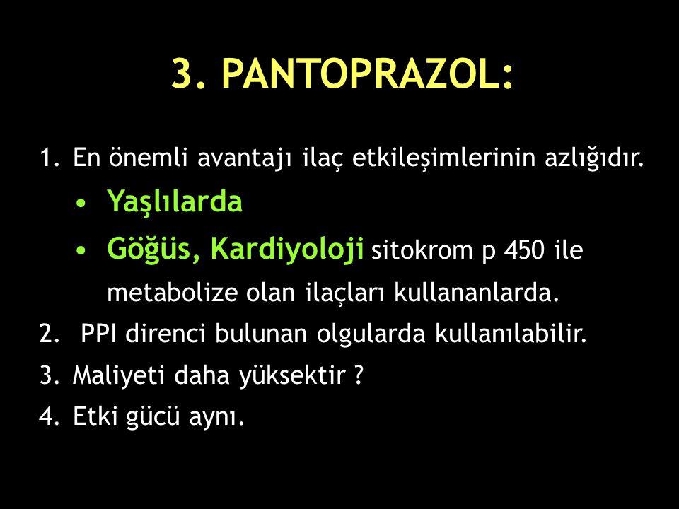 3. PANTOPRAZOL: Yaşlılarda
