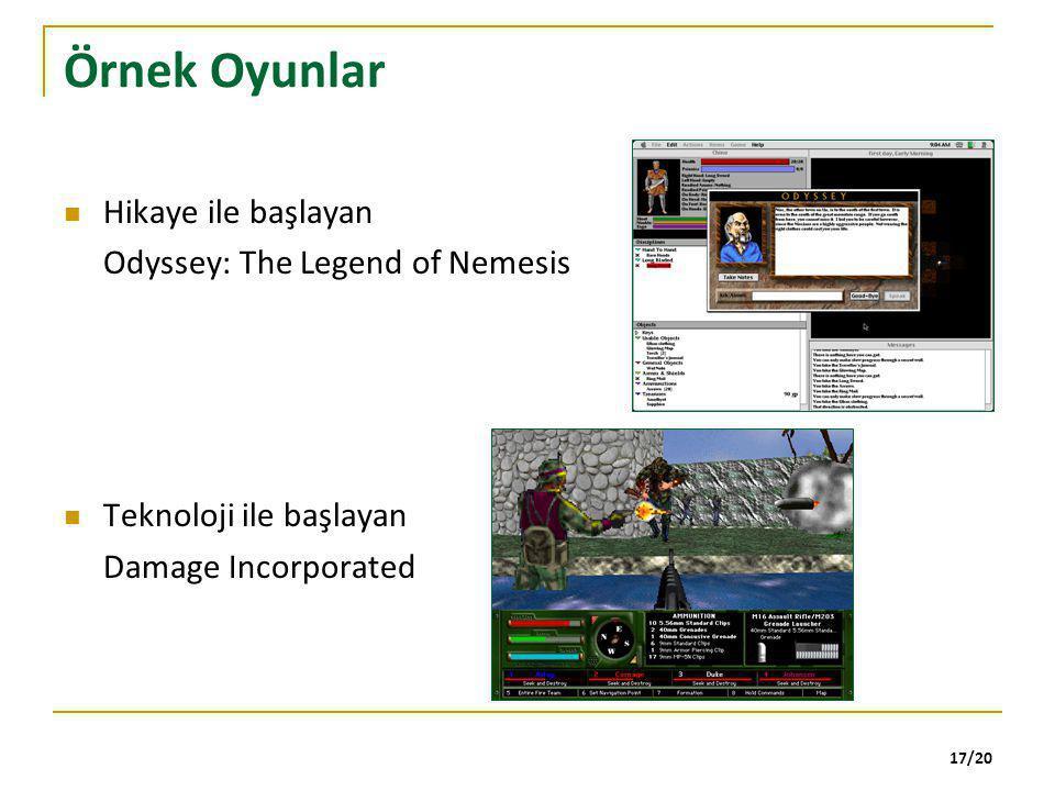 Örnek Oyunlar Hikaye ile başlayan Odyssey: The Legend of Nemesis