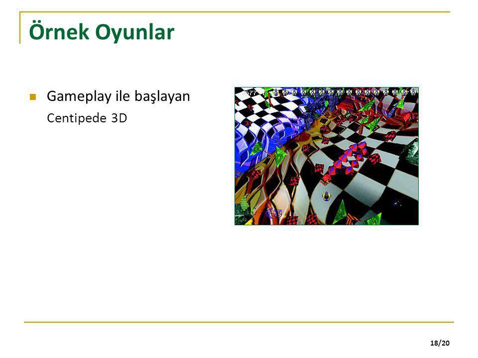 Örnek Oyunlar Gameplay ile başlayan Centipede 3D