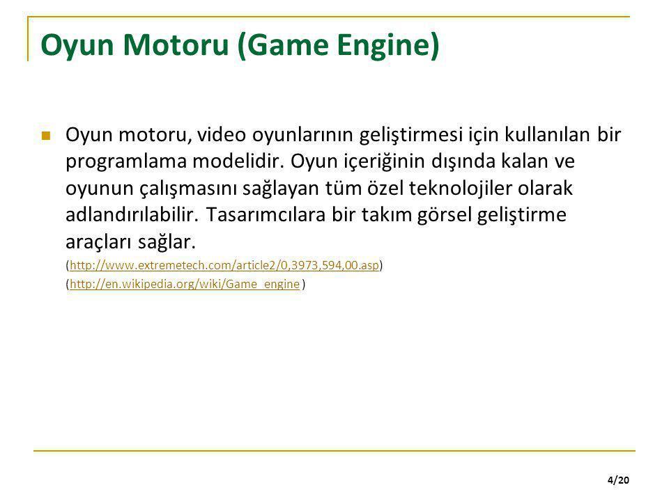 Oyun Motoru (Game Engine)
