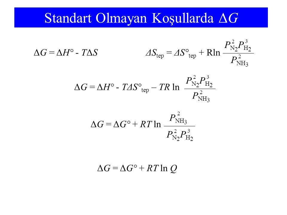 Standart Olmayan Koşullarda ΔG