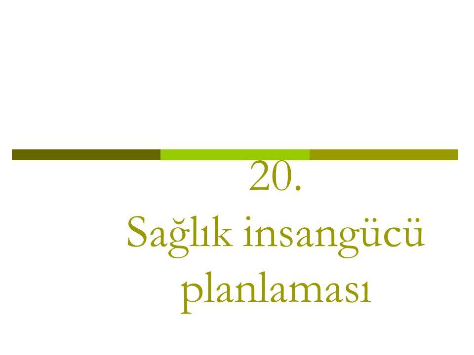 20. Sağlık insangücü planlaması