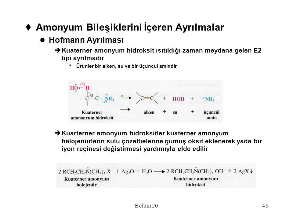 Amonyum Bileşiklerini İçeren Ayrılmalar