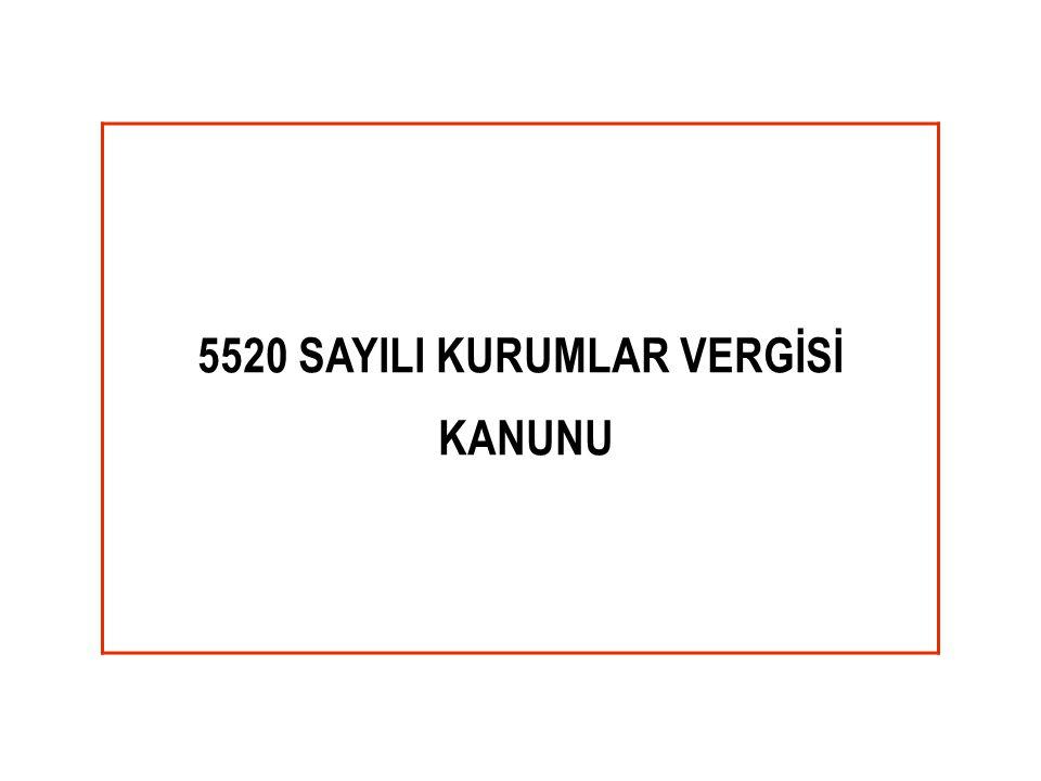 5520 SAYILI KURUMLAR VERGİSİ
