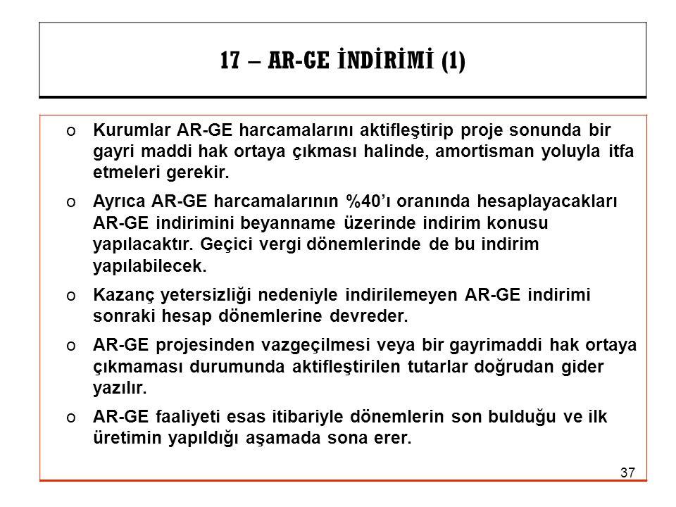 17 – AR-GE İNDİRİMİ (1)