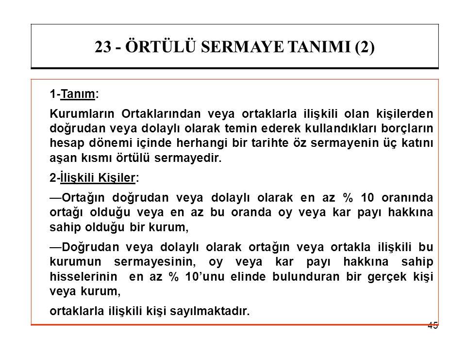 23 - ÖRTÜLÜ SERMAYE TANIMI (2)