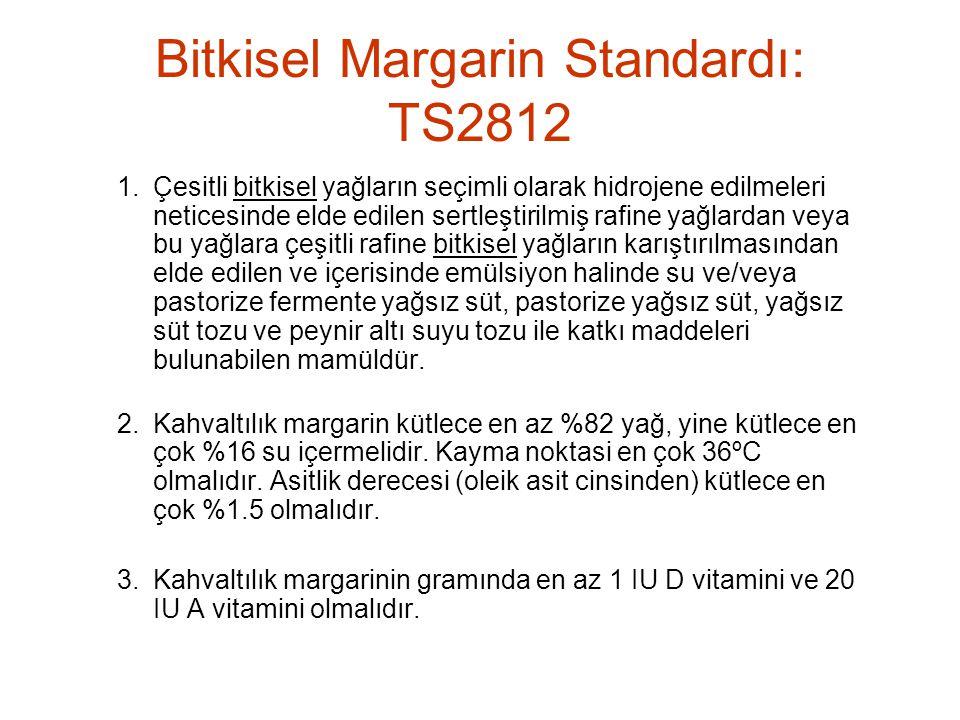 Bitkisel Margarin Standardı: TS2812