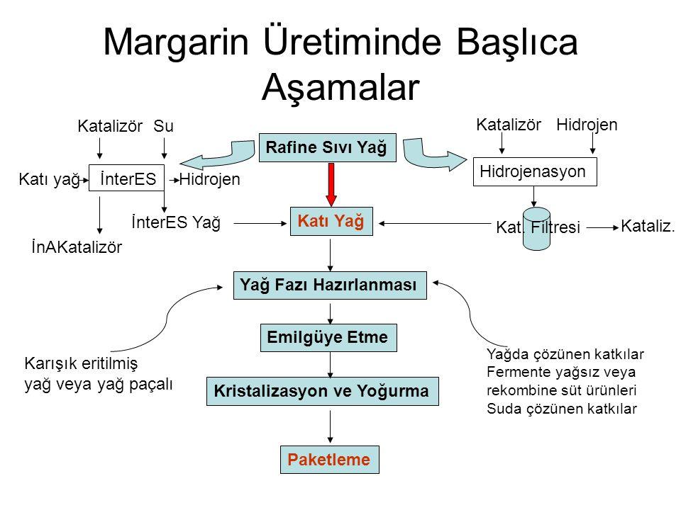 Margarin Üretiminde Başlıca Aşamalar