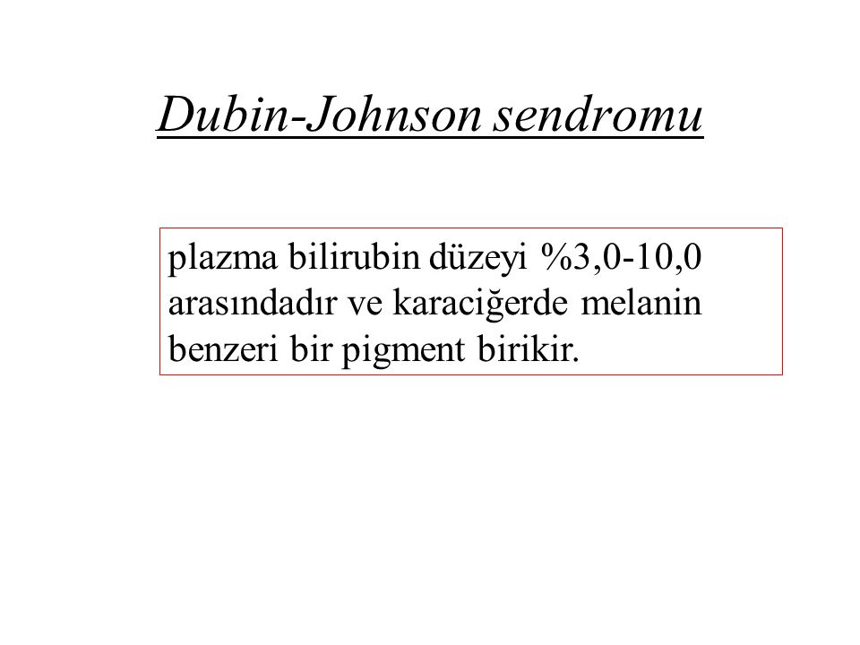 Dubin-Johnson sendromu