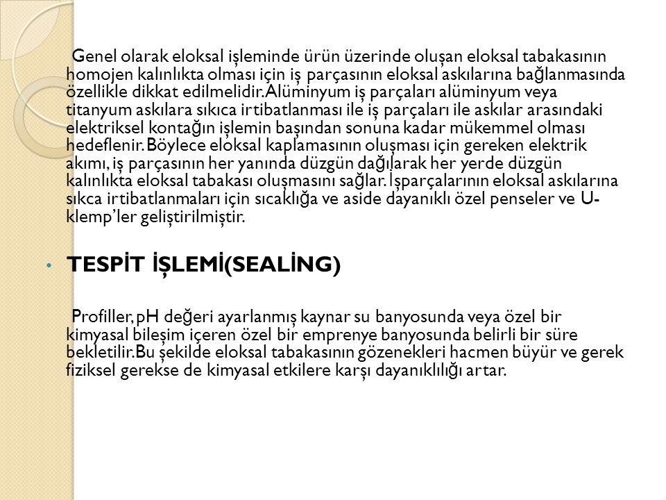TESPİT İŞLEMİ(SEALİNG)