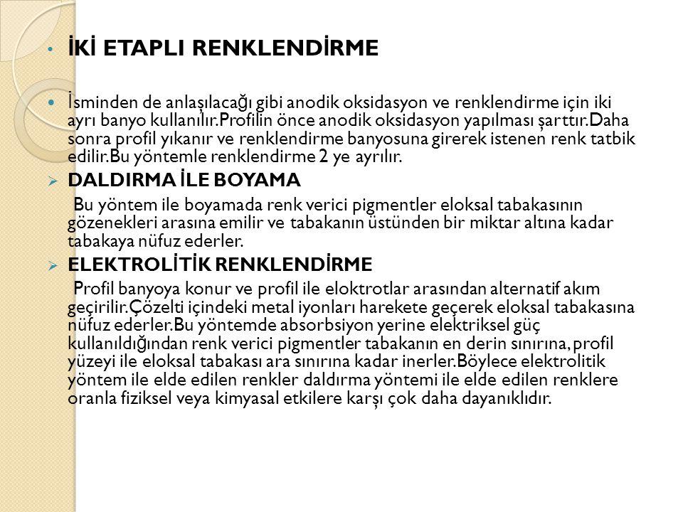 İKİ ETAPLI RENKLENDİRME