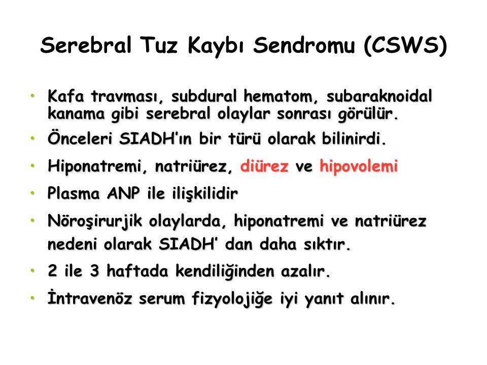 Serebral Tuz Kaybı Sendromu (CSWS)