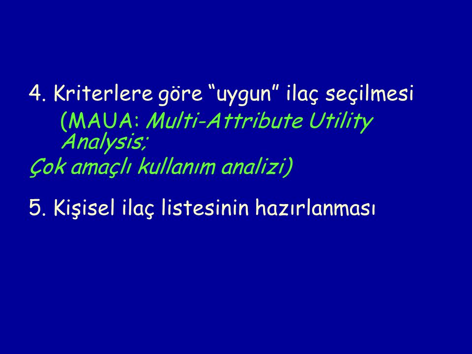 (MAUA: Multi-Attribute Utility Analysis;