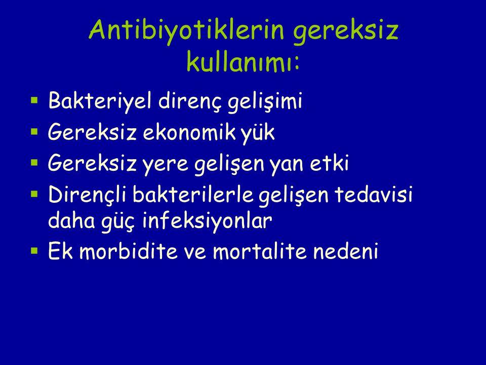 Antibiyotiklerin gereksiz kullanımı:
