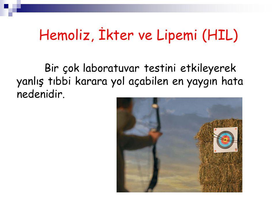 Hemoliz, İkter ve Lipemi (HIL)