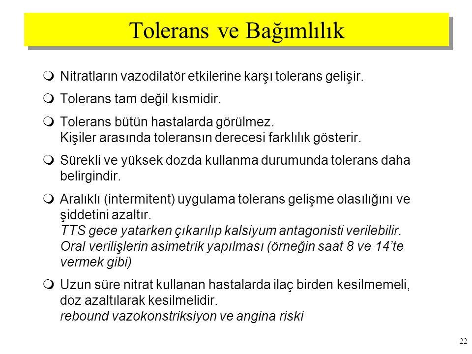 Tolerans ve Bağımlılık