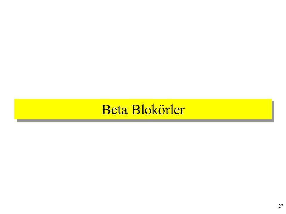 Beta Blokörler