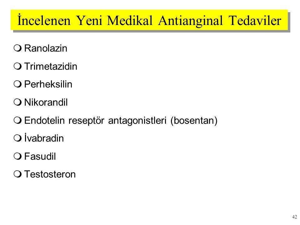 İncelenen Yeni Medikal Antianginal Tedaviler