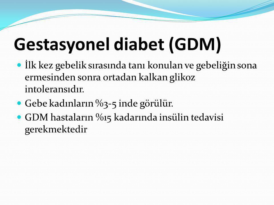 Gestasyonel diabet (GDM)