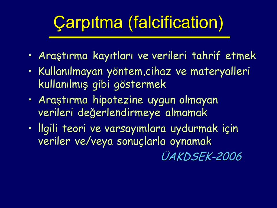 Çarpıtma (falcification)‏