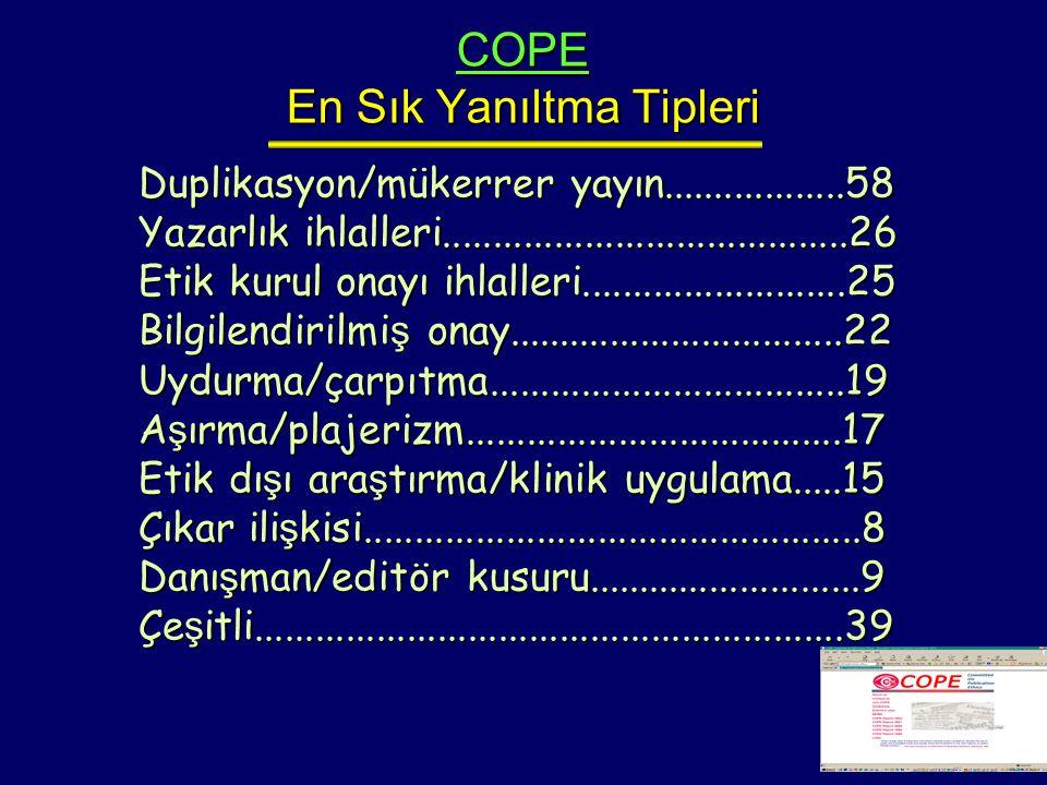 COPE En Sık Yanıltma Tipleri