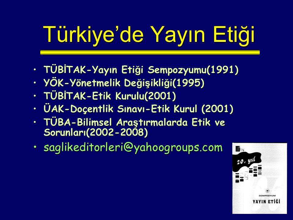 Türkiye'de Yayın Etiği