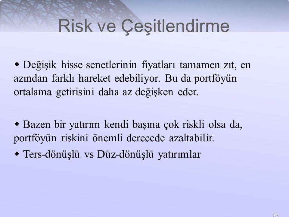 Risk ve Çeşitlendirme