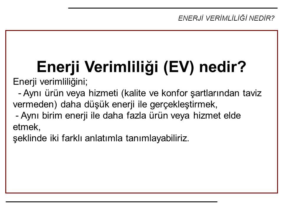 Enerji Verimliliği (EV) nedir