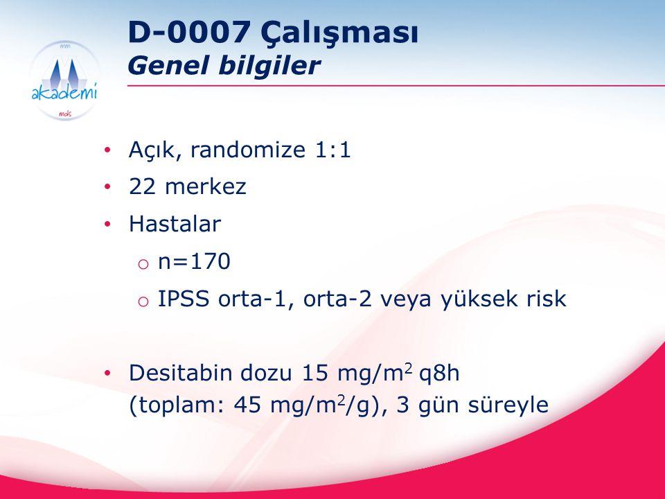 D-0007 Çalışması Genel bilgiler