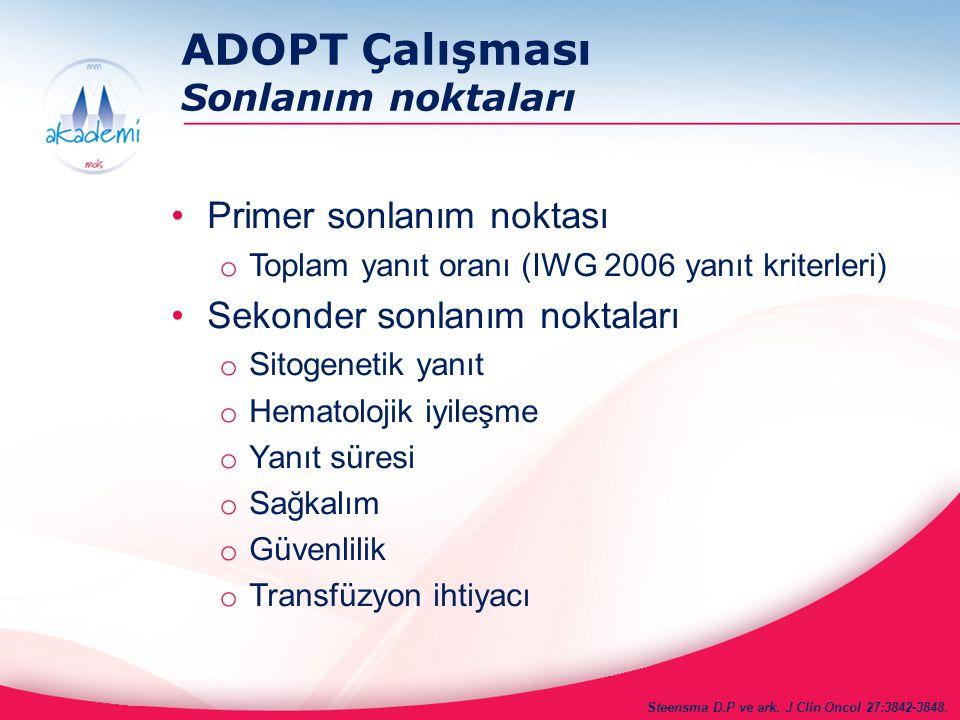ADOPT Çalışması Sonlanım noktaları