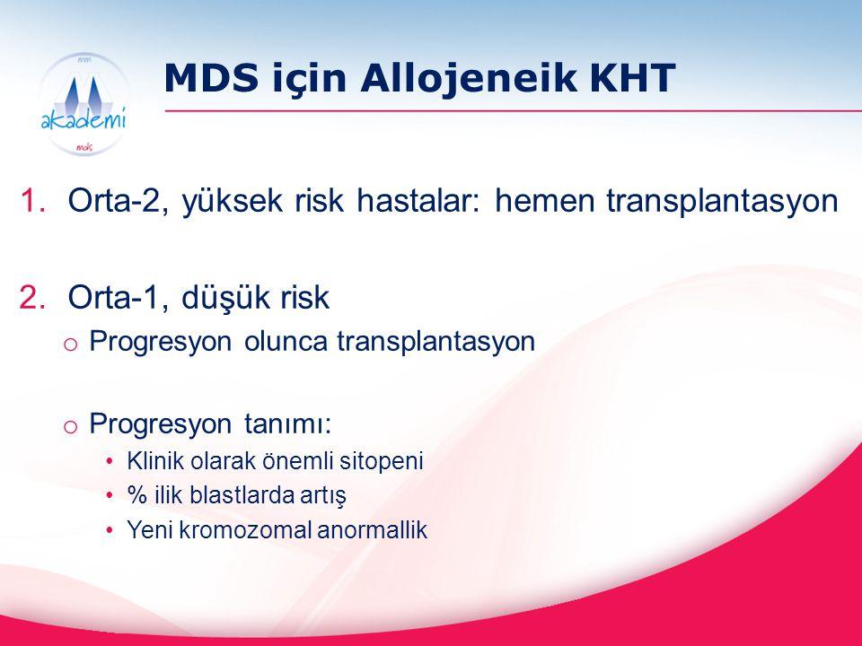 MDS için Allojeneik KHT