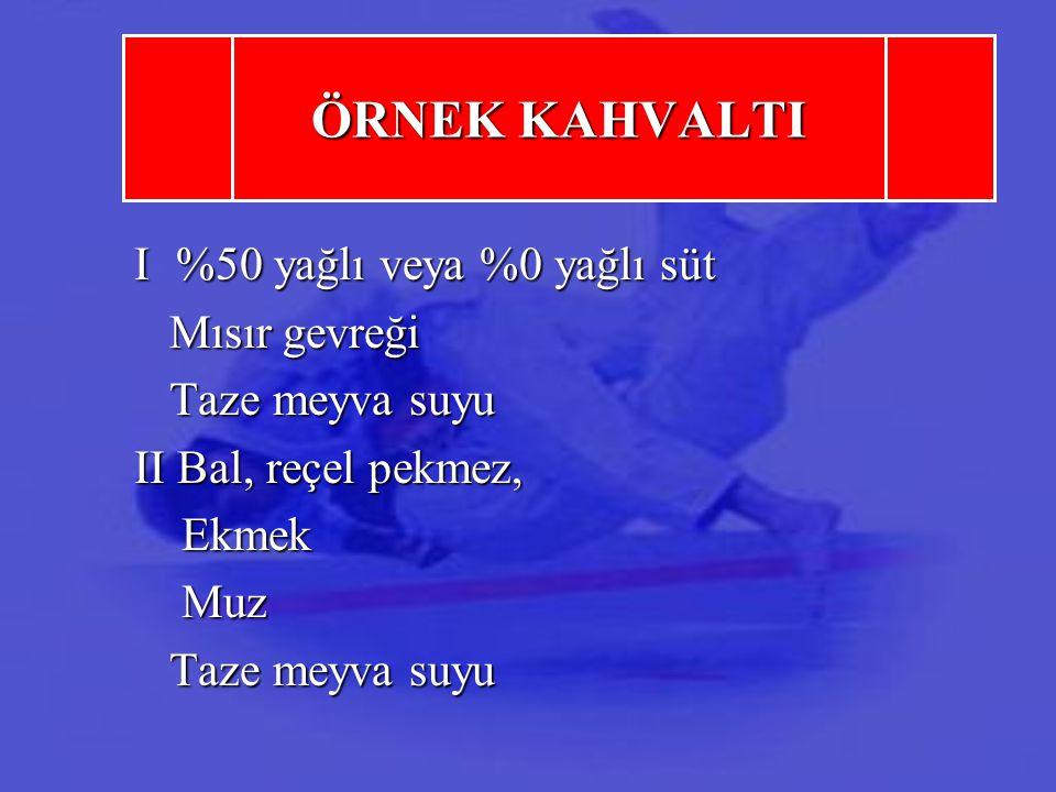 ÖRNEK KAHVALTI I %50 yağlı veya %0 yağlı süt Mısır gevreği