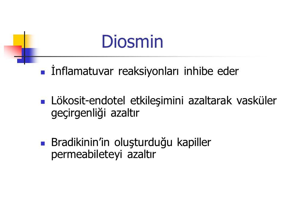 Diosmin İnflamatuvar reaksiyonları inhibe eder