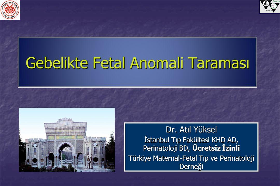 Gebelikte Fetal Anomali Taraması