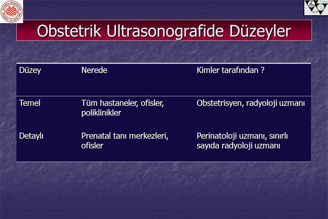 Obstetrik Ultrasonografide Düzeyler