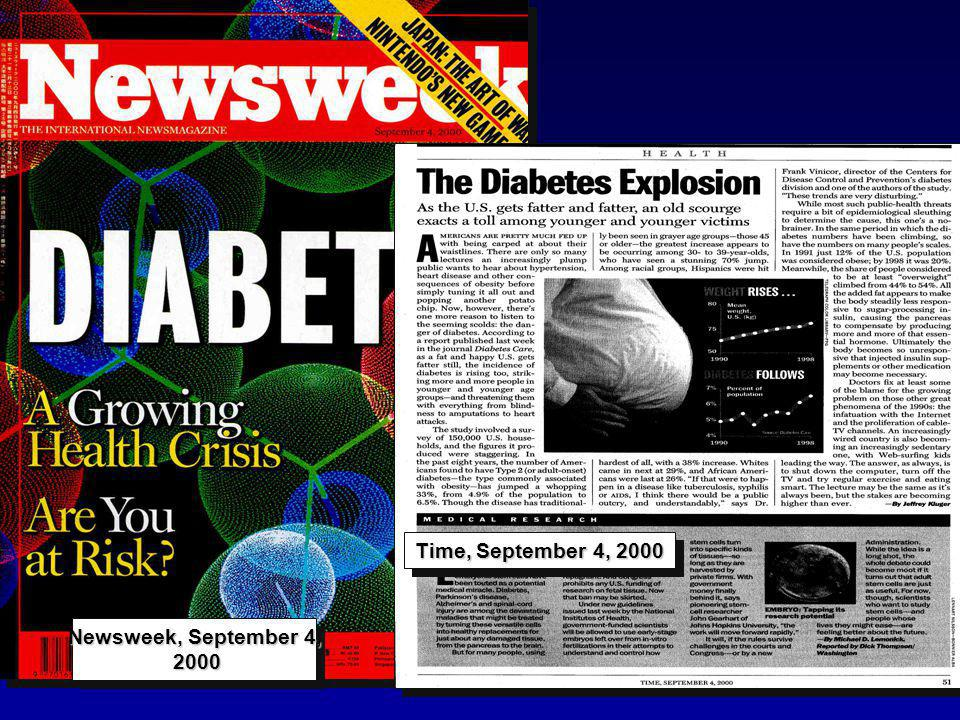 Newsweek, September 4, 2000 Time, September 4, 2000