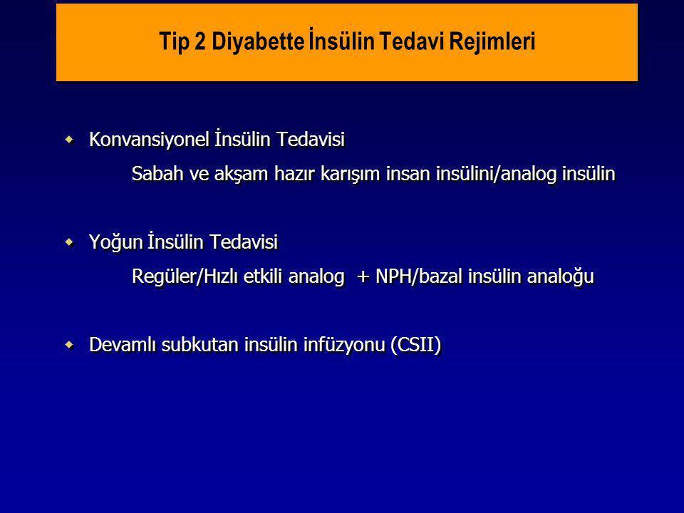 Tip 2 Diyabette İnsülin Tedavi Rejimleri