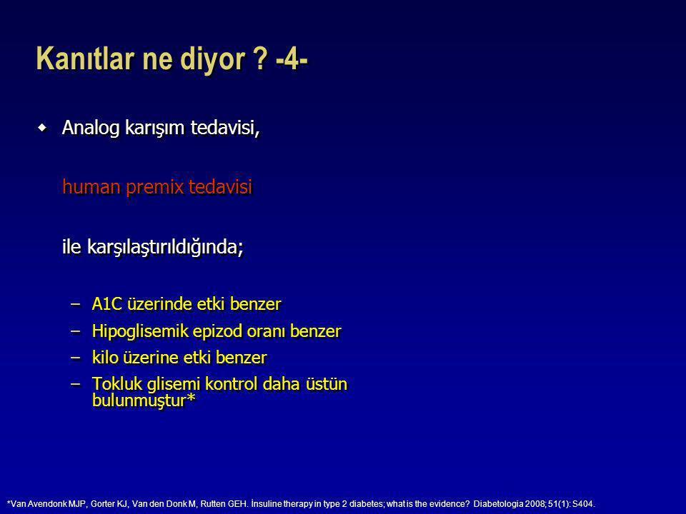 Kanıtlar ne diyor -4- Analog karışım tedavisi, human premix tedavisi