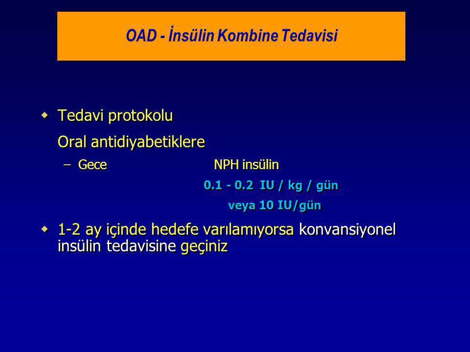 OAD - İnsülin Kombine Tedavisi
