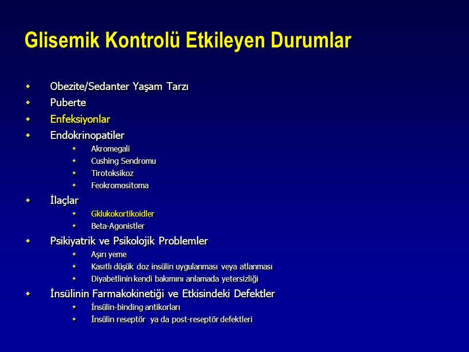 Glisemik Kontrolü Etkileyen Durumlar