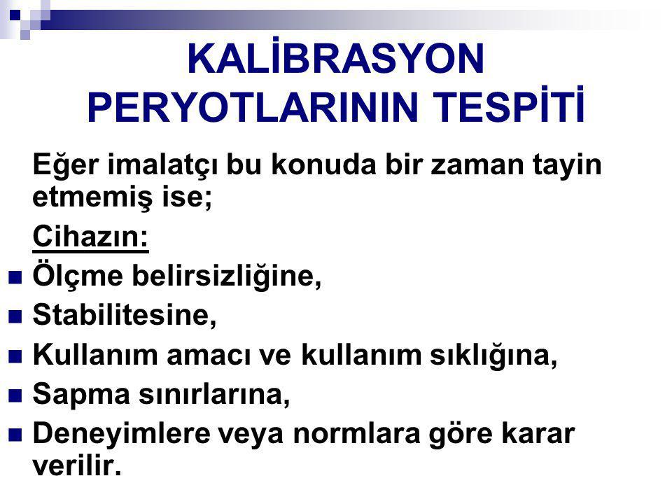 KALİBRASYON PERYOTLARININ TESPİTİ