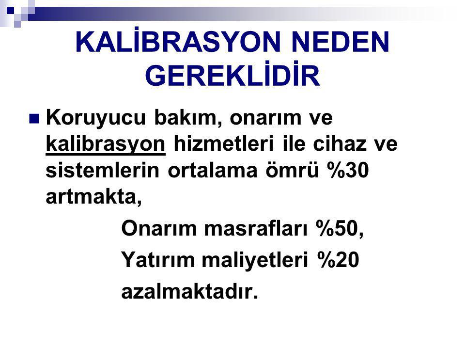 KALİBRASYON NEDEN GEREKLİDİR