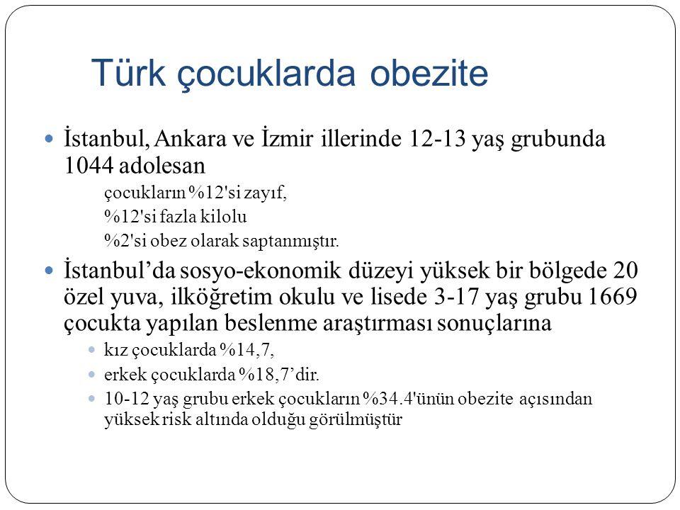 Türk çocuklarda obezite