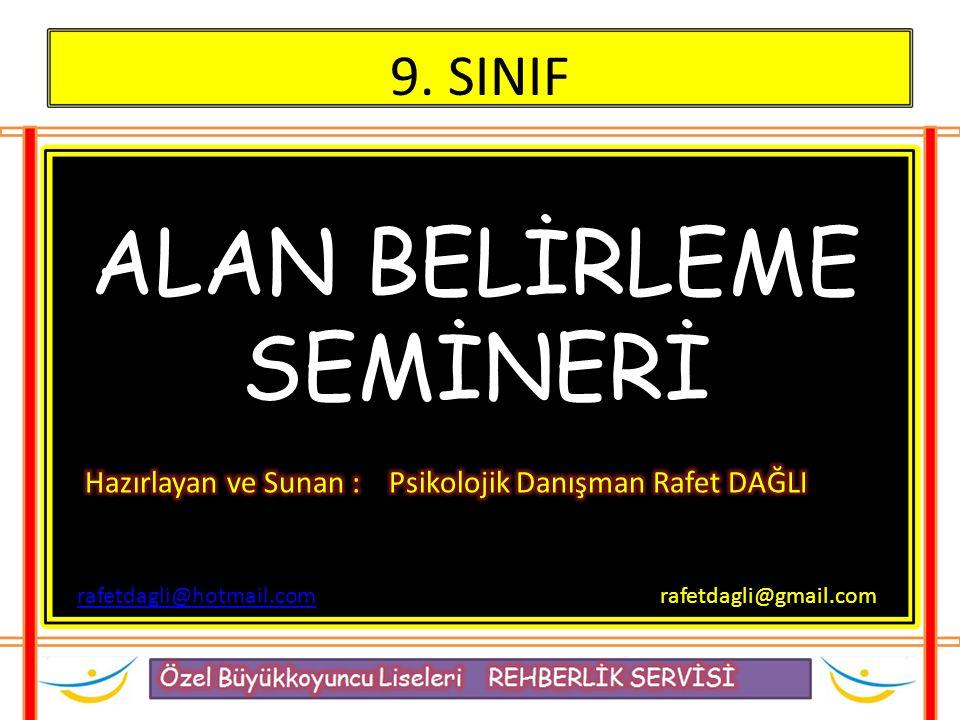 ALAN BELİRLEME SEMİNERİ 9. SINIF