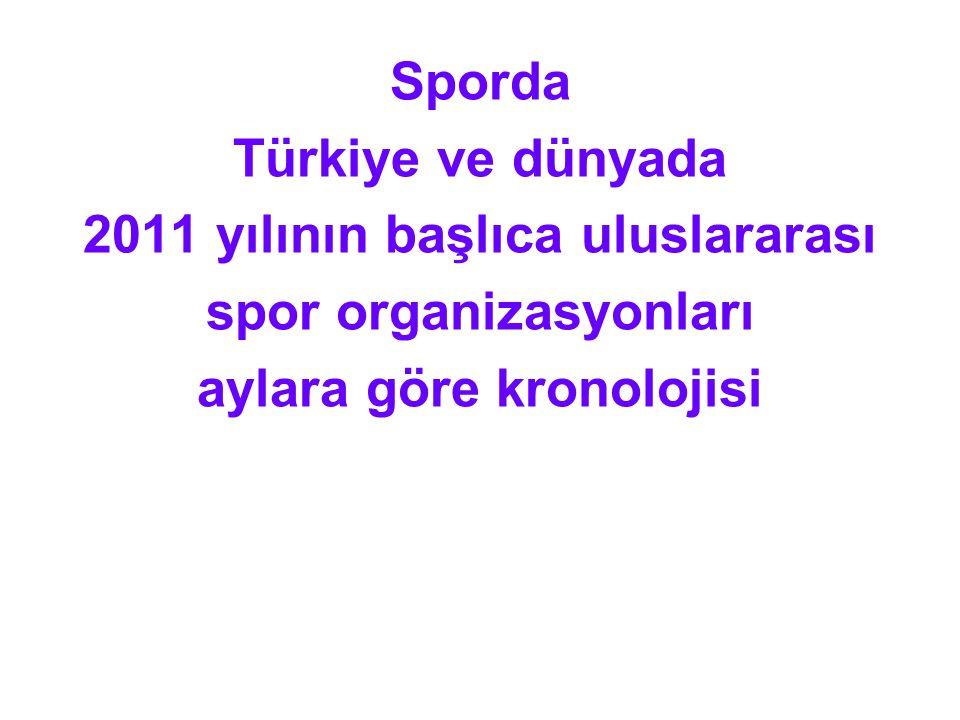 2011 yılının başlıca uluslararası spor organizasyonları